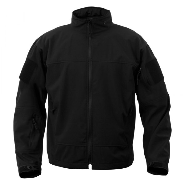 Rothco® - Covert Ops 3X-Large Black Men's Soft Shell Lightweight Jacket