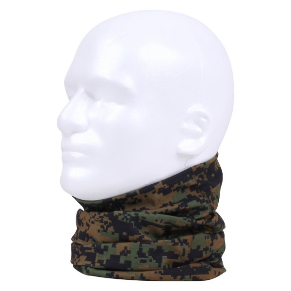 Rothco® - Woodland Digital Camo Multi-Use Neck Gaiter and Face Covering Tactical Wrap