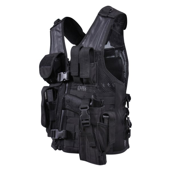 Rothco® - Black Kid's Cross Draw Tactical Vest