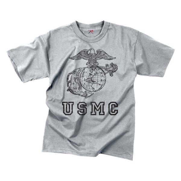 "Rothco® - ""USMC Eagle, Globe & Anchor"" Vintage XX-Large Gray Men's T-Shirt"
