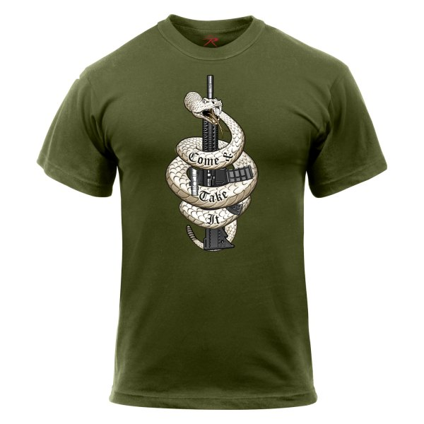 "Rothco® - ""Come and Take It"" XX-Large Olive Drab Men's T-Shirt"