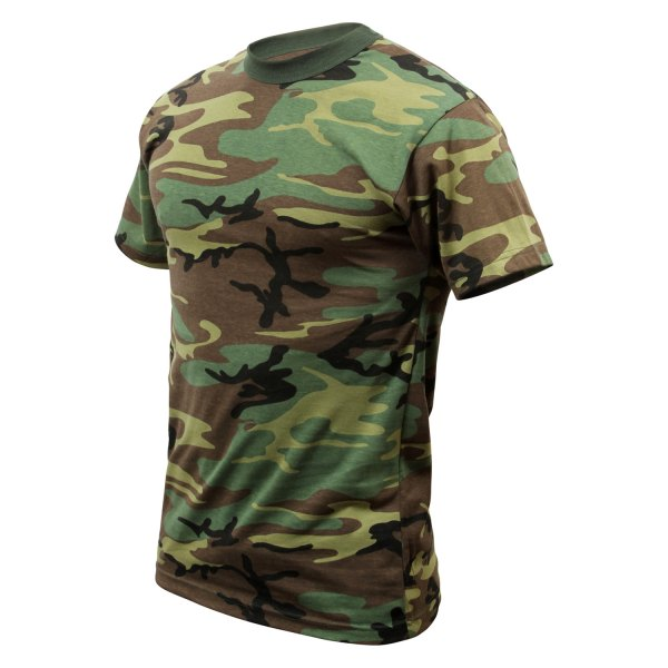 Rothco® - Childrens Woodland Camo Heavyweight T-Shirt
