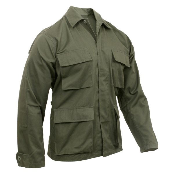 Rothco® - XX-Large Olive Drab Men's Poly/Cotton Twill Solid Long Sleeve BDU Shirt