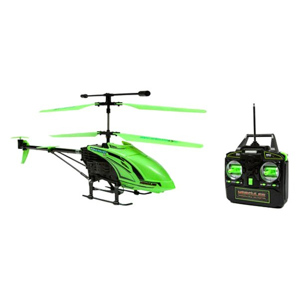 World Tech Toys® ZX-34821 - Glow In the Dark Hercules Unbreakable IR Green  Helicopter