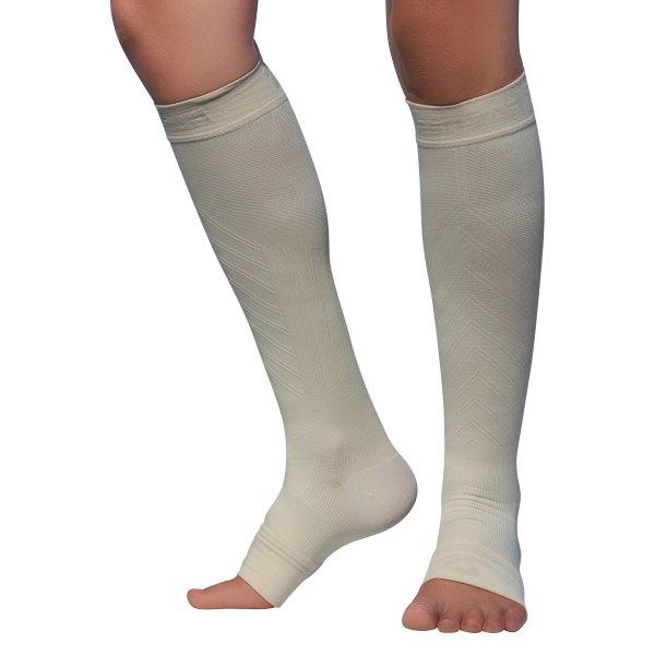 Zensah® - Medium Beige Compression Ankle/Calf Sleeves