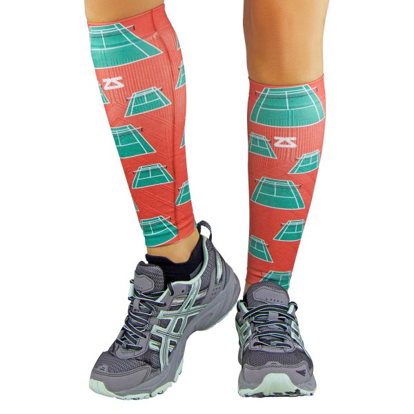 "Zensah® - ""Tennis Court"" Small/Medium Terra Cotta Compression Leg Sleeves"