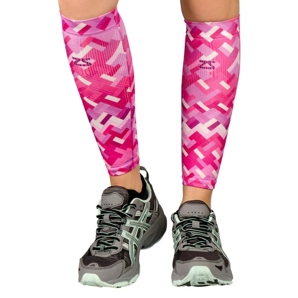 "Zensah® - ""Geo"" Small/Medium Pink/Purple Compression Leg Sleeves"